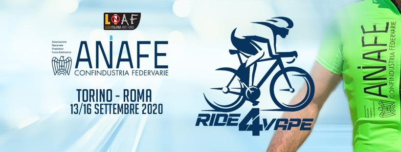 """AL VIA """"RIDE 4 VAPE"""", IL BIKE TOUR LANCIATO DA ANAFE PER RACCONTARE LA VERITA' SULLE E-CIG"""